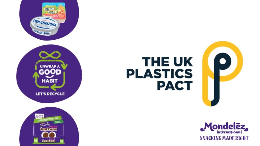 Mondelēz International highlighted in UK Plastics pact report as company makes progress towards long term vision of zero net waste packaging