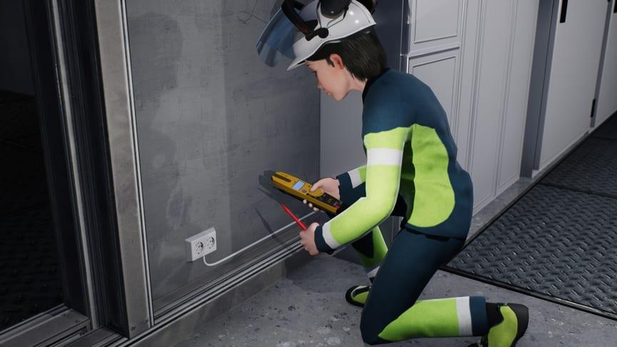 Spenningstesting skal alltid utføres ved arbeid på frakoblet anlegg. 3D-Illustrasjon: Trainor AS