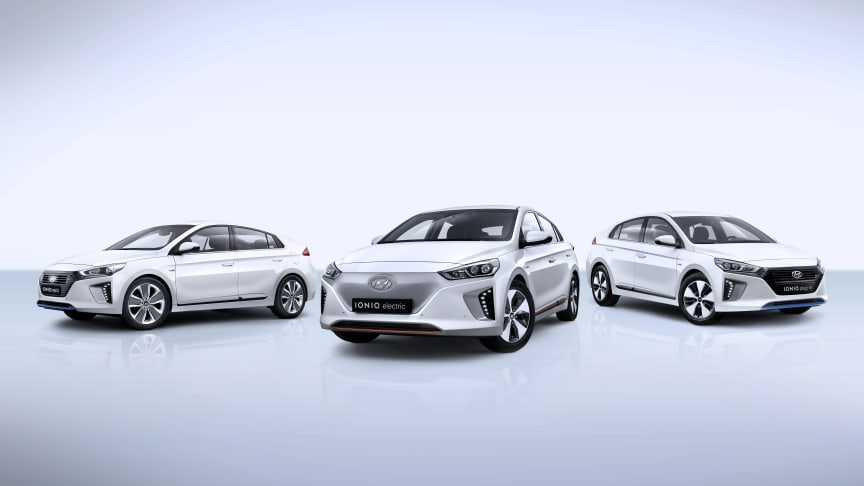 Hyundai IONIQ byr på tre forskjellige elbil-varianter