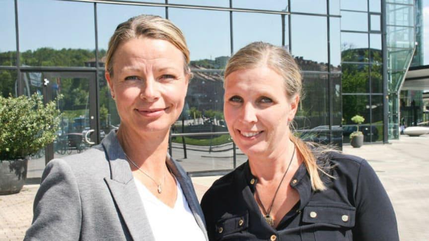 Anna Jarnö, affärsansvarig, och Beatrice de Maré Peterson, marknadsansvarig, Automässan.