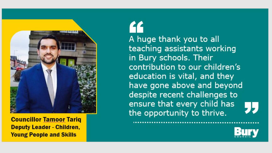 Our grateful thanks to staff on National Teaching Assistants' Day