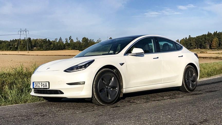 Tesla Model 3 är den näst mest sålda begagnade elbilen.