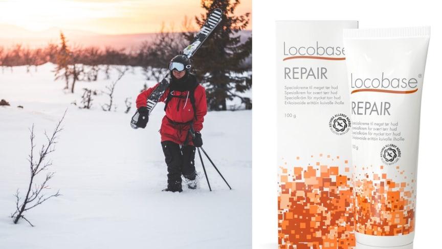Locobase Repair – återuppbyggande och skyddande hudvård för vårvinterns aktiva dagar