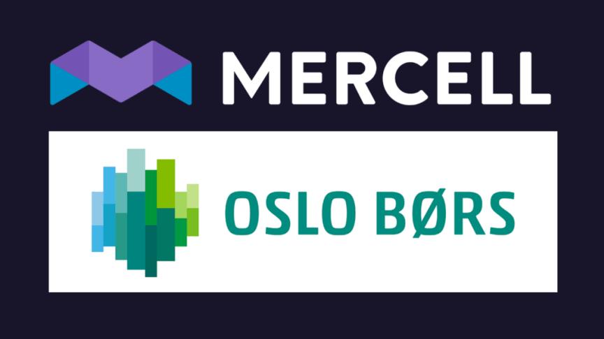 Mercell kliver upp till huvudlistan på Oslo Stock Exchange (OSE)