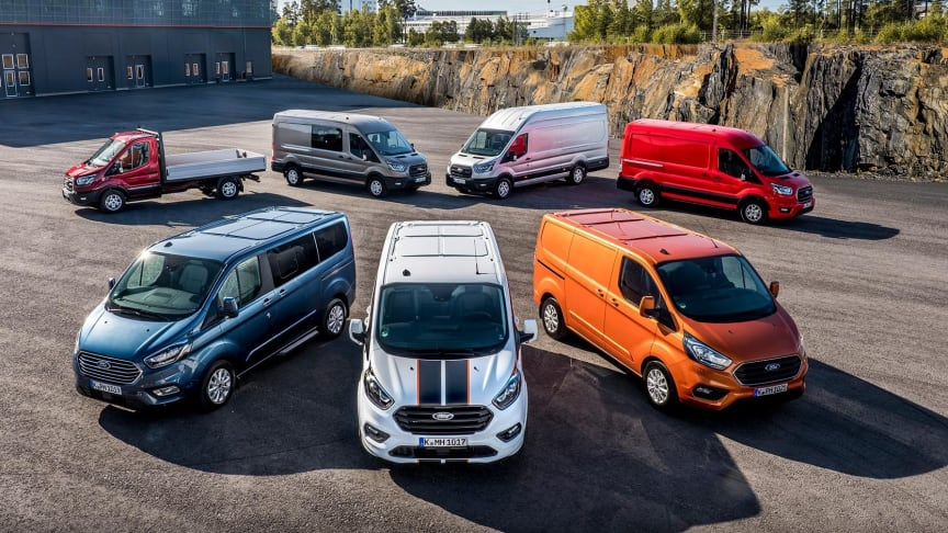 Ford dominerer varebilssalget
