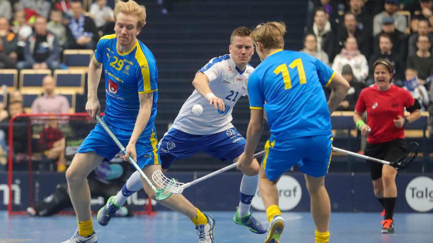 Alexander Rudd i action mot Finland. Foto: Juhani Järvenpää
