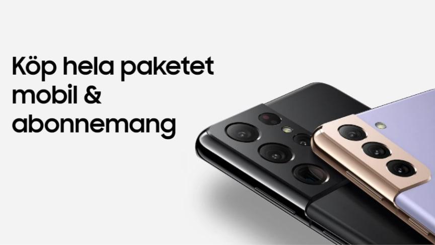 Samsung Electronics Nordic i unikt samarbete: Sverige och Norge först i Europa för ny abonnemangssatsning