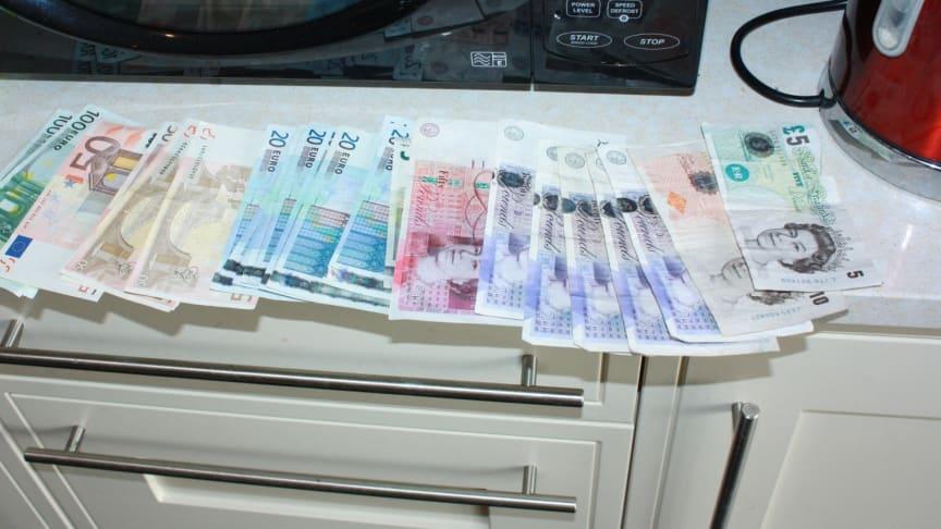 Cash found at Williamson's house