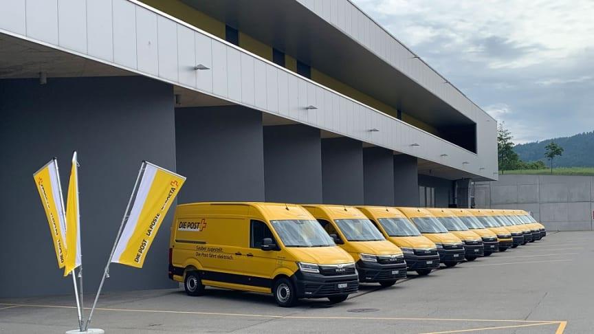 Grøn transport: 11 nye el-varebiler – MAN eTGE klar til udlevering