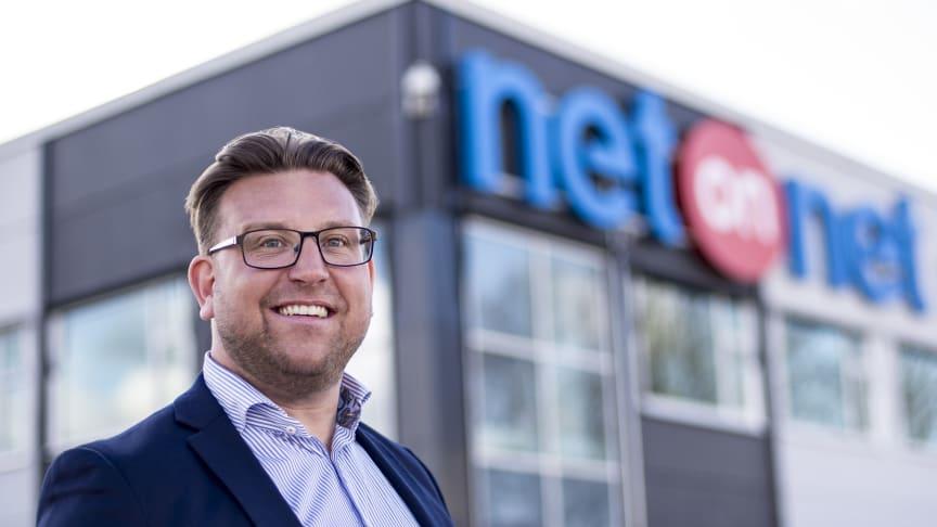 Peter Andersson, retailchef för NetOnNet, som öppnar en ny Lagershop i Norrköping i början av den kommande vintern.
