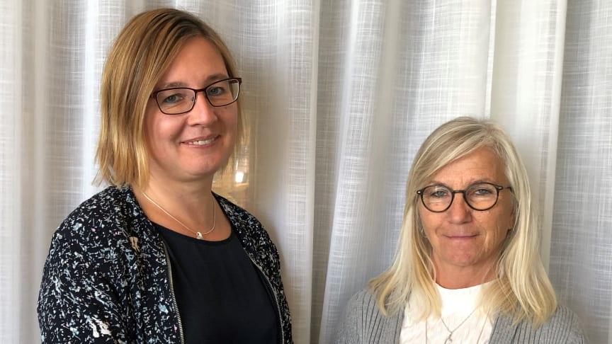 Charlotta Norman och Carola Falk, nya på Umandiagnostics.