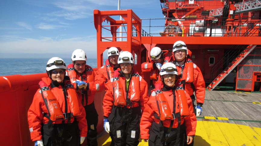 The 'Esvagt Njord' were in the company of Equinor's CEO.