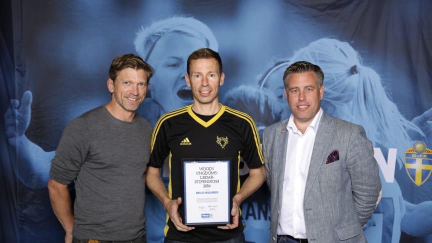 Niklas Magander, Essinge IK. Här tillsammans med Jesper Blomqvist och Mikael Tykesson.