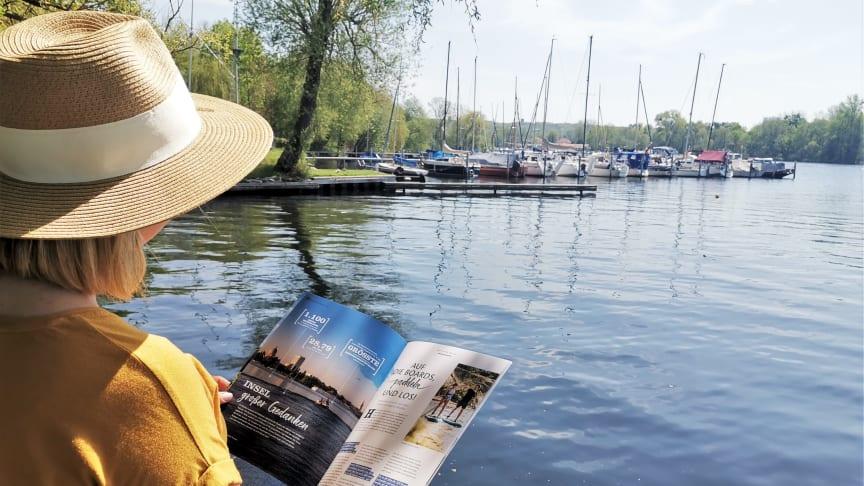"""Entspannen am Wasser und inspirieren lassen - viele Tipps gibt es im neuen """"Dein Potsdam-Reisemagazin"""""""
