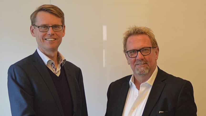 Niklas Jardeby (till vänster) och Mats Wernheim (till höger)