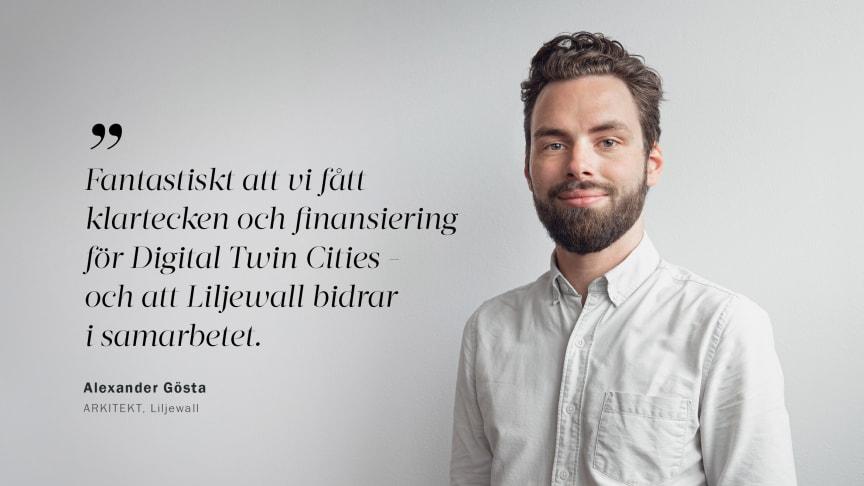 Alexander Gösta, arkitekt på Liljewall och del i forskningssamarbetet.