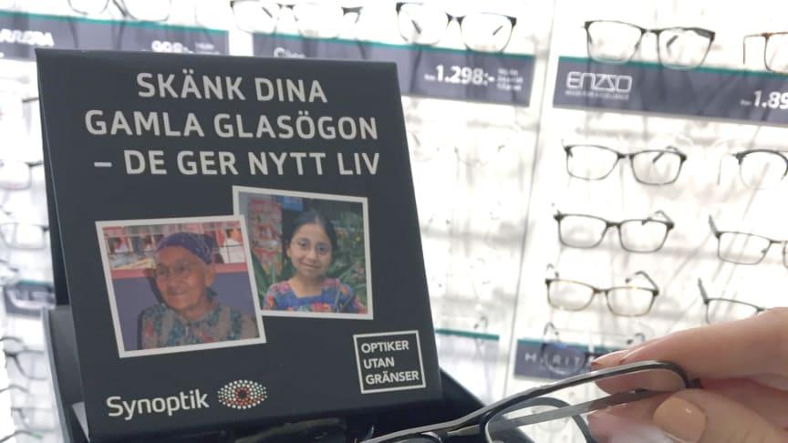Målet är att samla in hundratals begagnade glasögon från Örnsköldsviksborna till organisationens biståndsresa till Peru.