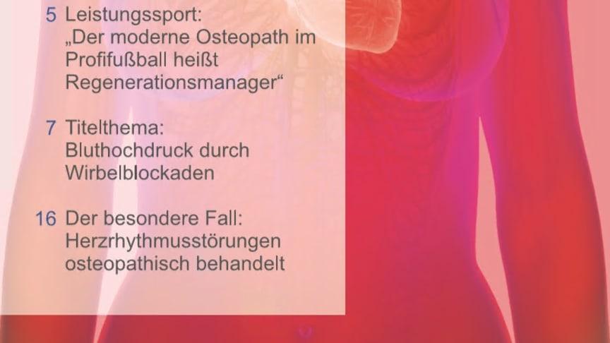 """""""Brustkorb: Herz, Lunge & Co"""" ist das Titelthema der neuen Ausgabe von """"Osteopathie – das Praxismagazin""""."""