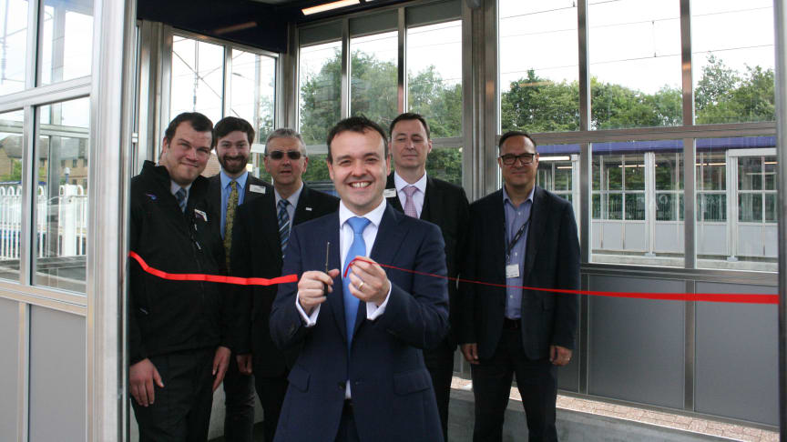 A ribbon cutting marked the unveiling of new platform shelters at Knebworth - more images available to download below