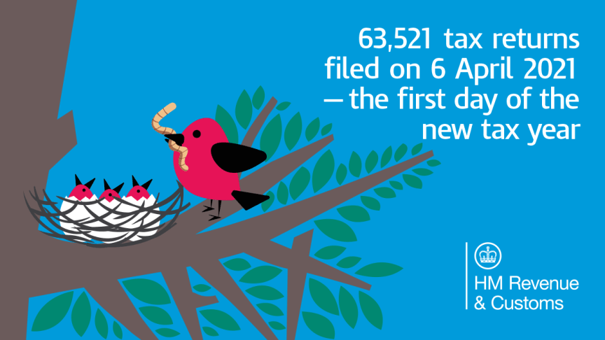 More than 63,500 file Self Assessment on first day of tax year and HMRC urges others to follow
