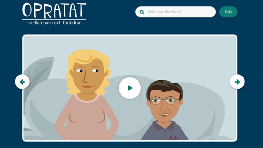 Opratat.se är en webbplats som tagits fram tillsammans med barn, i projektet Det outsagda mellan barn och föräldrar.