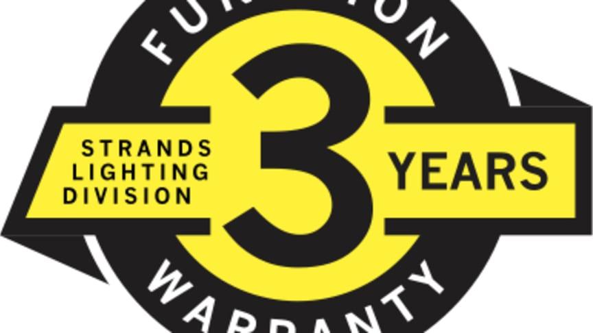 Strands Lighting Division lanserar  3 års garanti