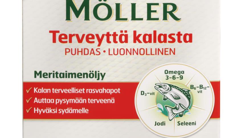 Möllerin uusi meritaimenöljyvalmiste sisältää monipuolisesti kalasta saatavia ravintoaineita
