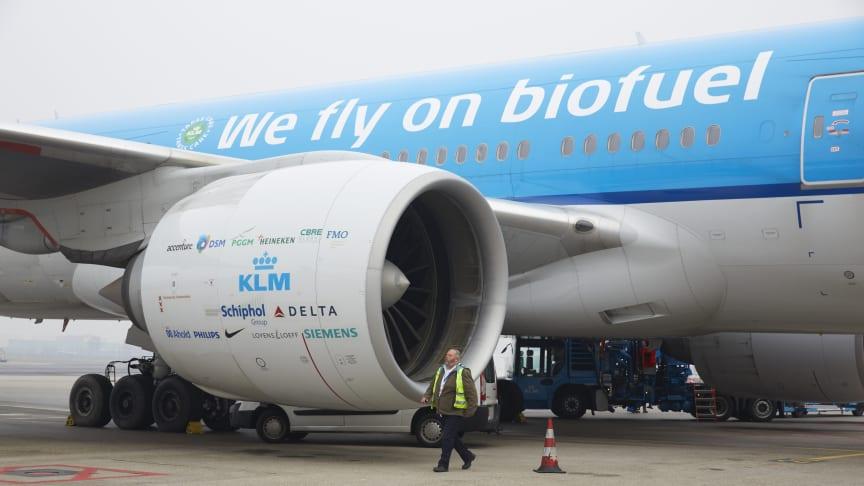 KLM ingår i partnerskap om Europas första dedikerade fabrik för bioflygbränsle