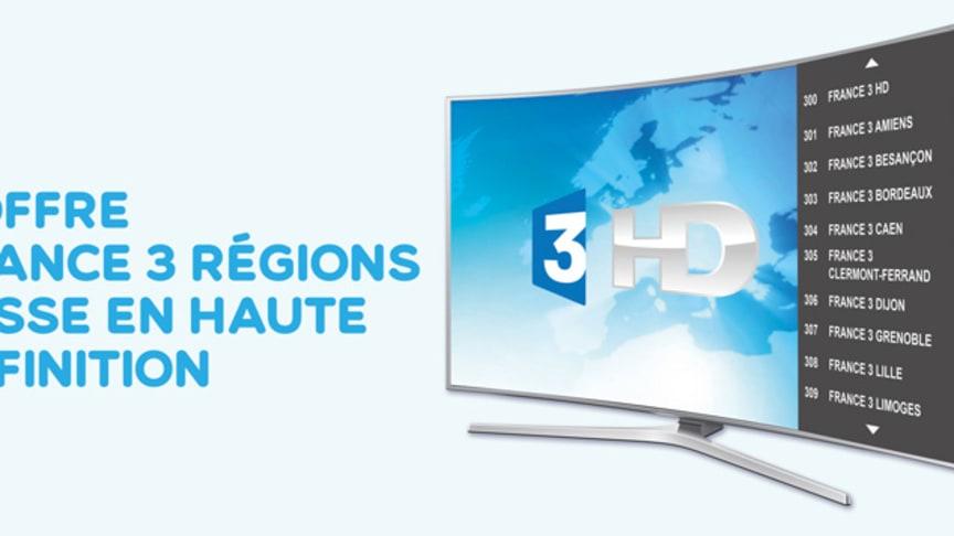 L'offre France 3 Régions passe en Haute Définition sur FRANSAT