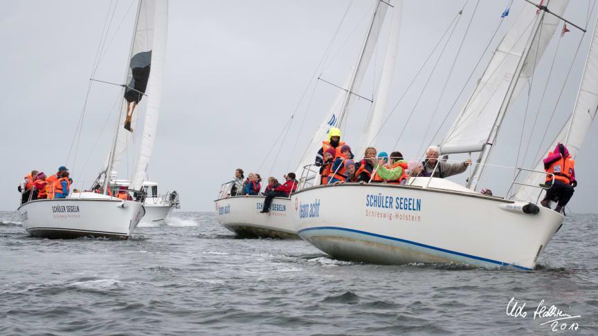Am 08. September segeln über 100 Schüler*innen aus ganz Schleswig-Holstein beim SchülerCup 2021 auf der Kieler Förde. Foto: Udo Hallstein, Eckernförde.