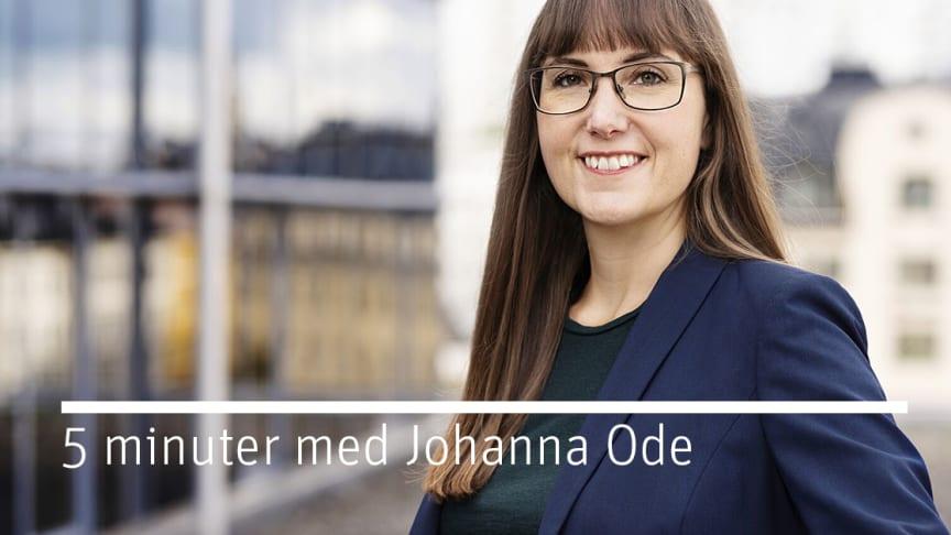 Riksbyggen på Frihamnsdagarna – 5 Minuter med Johanna Ode