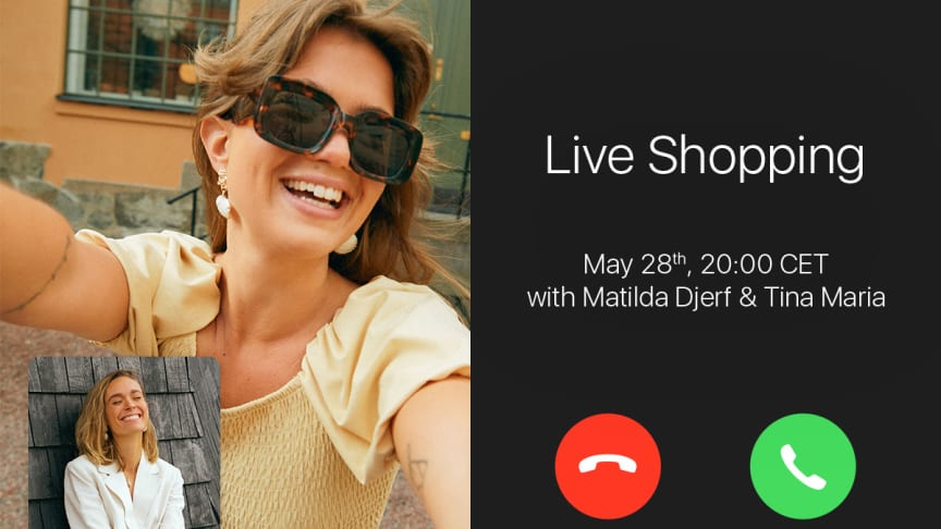 GINA TRICOT KICKS OFF SUMMER WITH A UNIQUE LIVE VIDEO SHOPPING EVENT