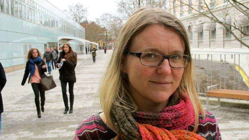 Anna Vogel, forskare i nordiska språk vid Stockholms universitet. Foto: Björn Lennestig/Stockholms universitet.