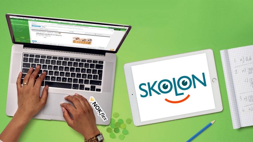Matematikläromedlet NOKflex blir tillängligt i Skolon den 22 januari.