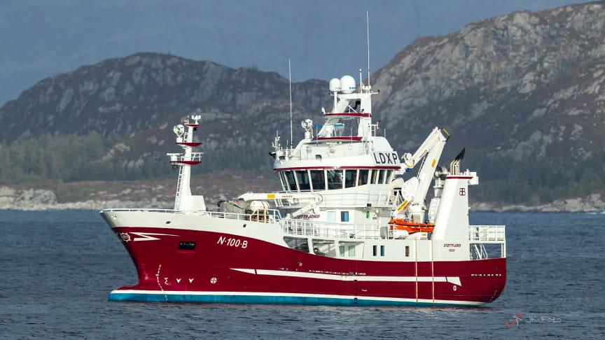 Fiskefartøyet MS Støttfjord, bygget som hybridskip med Enova-støtte (Foto: JK-Foto/Brødrene Bakken)