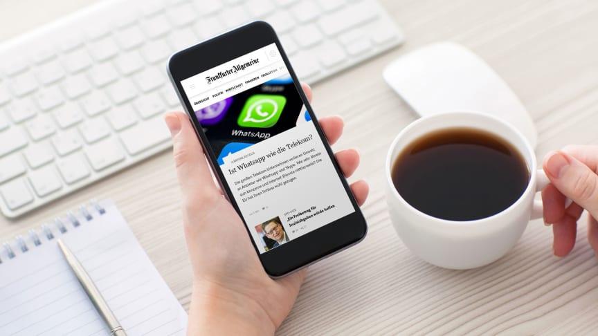 APPSfactory relauncht die neue Nachrichten-App von FAZ.NET