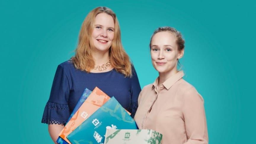Cribble-grundarna (från vänster): Christine Montalvo och Josefin Palmgren