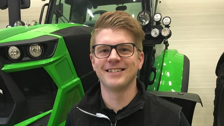 Joakim Franzén är ett välbekant ansikte för många lantbrukare inom sitt distrikt.