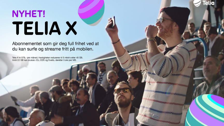 Mer data per krone: - Telia X er et fri-abonnement laget slik et fri-abonnement skal være, sier Kjersti Jamne i Telia Norge.
