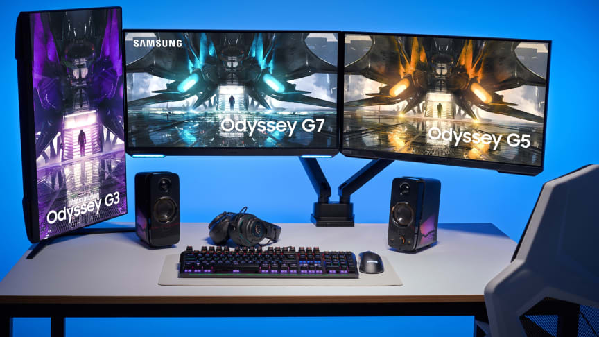 Samsung presenterar utökad Odyssey Gaming Monitor Lineup för 2021