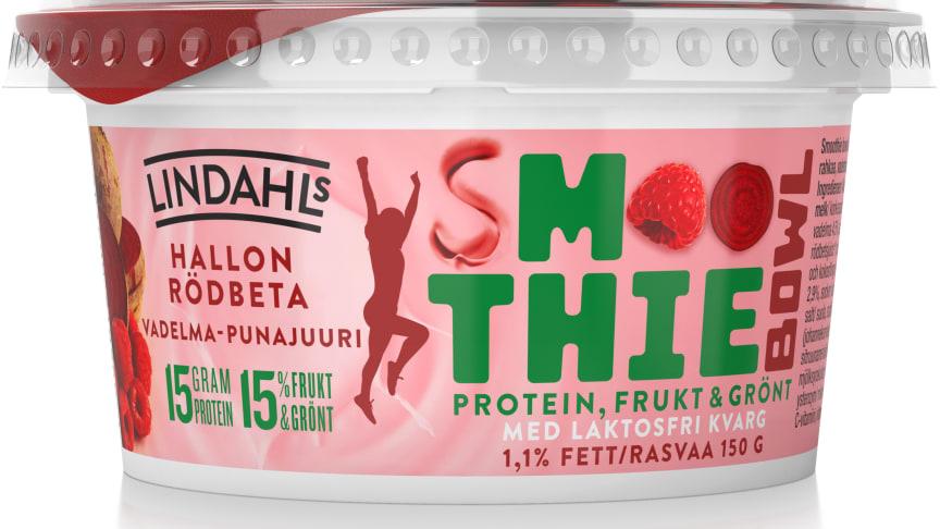 Lindahls Smoothie Bowl finns i smakerna Hallon/Rödbeta, Mango/Sötpotatis och Blåbär/Svart morot. Pris i butik är ca 11-12 kr.