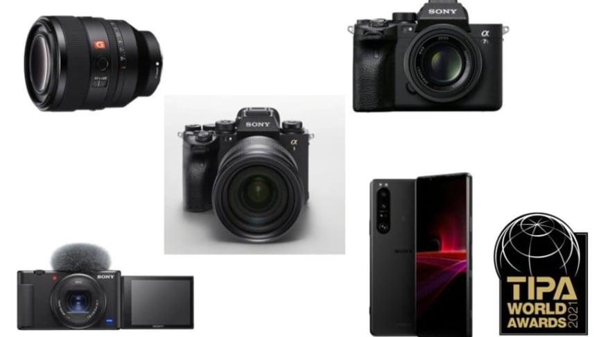 Technical Image Press Association вновь отметила высокое качество и инновационность продуктов Sony пятью наградами TIPA