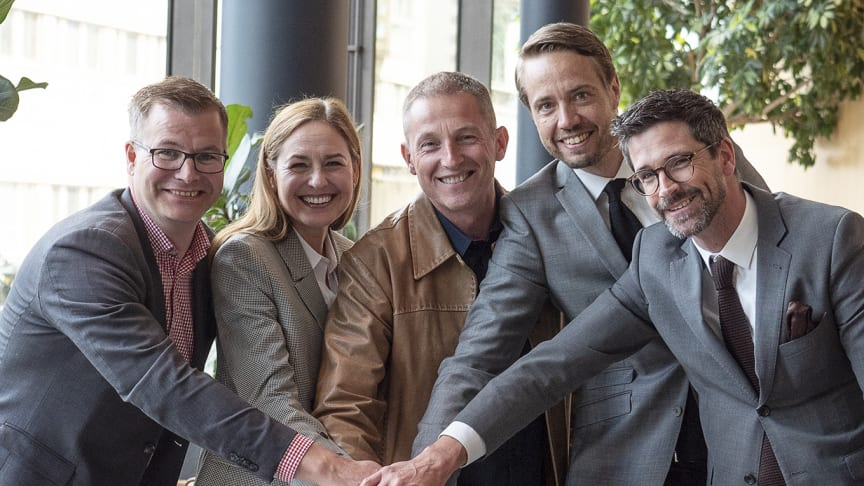 Björn Callin (Clarion Hotel Stockholm), Johanna Gripenberg (STAD), Patrick Widell (Polisen), Henrik Berghult (Clarion Hotel Sign) och Ulf Cato (Clarion Hotel Amaranten