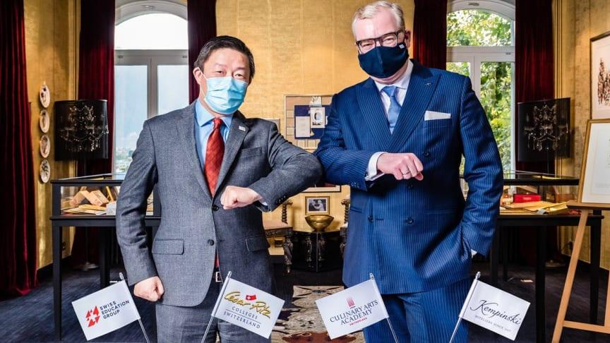 Swiss Education Group och Kempinski Hotels i nytt partnerskap