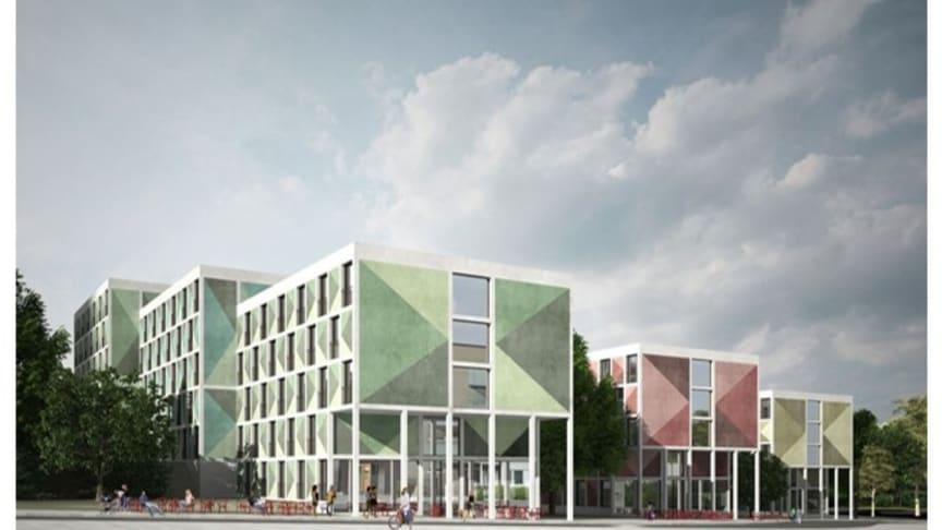 Godkänd detaljplan för Järntorgets ca 380 studentbostäder  i Kärrtorp, Stockholm