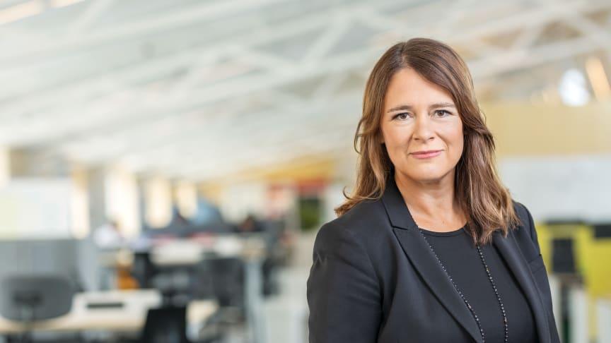 Sofia Wadensjö Karén, vd för Sveriges Utbildningsradio (UR). © Foto: Jann Lipka/UR