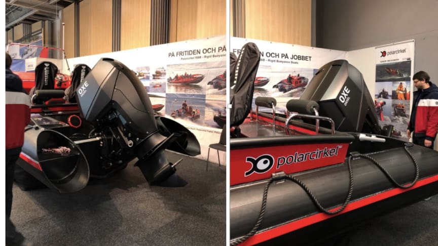 OXE Diesel displayed at allt för sjön together with Polarcirkel boats
