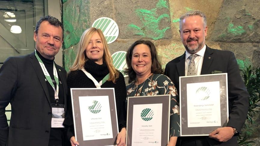 Johan Husberg, Svanen samt tre stolta hotelldirektörer: Eva Forsberg, Jenny Bergström & Joakim Landén