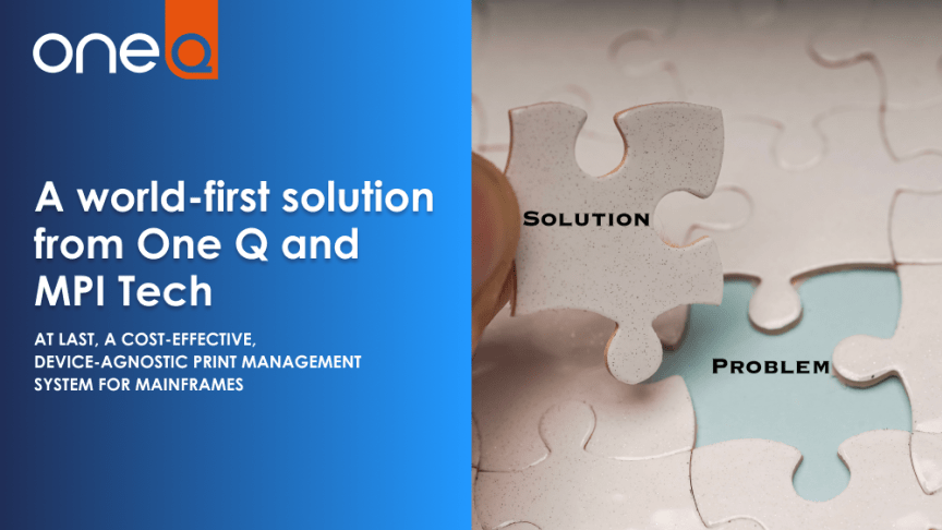 One Q partnership with MPI Tech to enable One Q's device-agnostic solution to run on IBM mainframes
