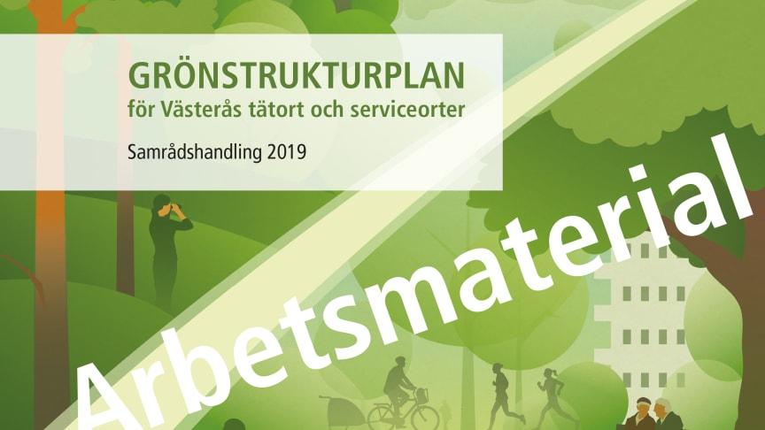 Omslaget för grönstrukturplanen är illustrerat av Tobias Flygar.
